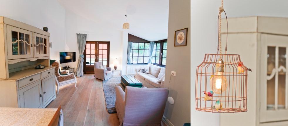 De zitkamer gezien vanaf de keuken